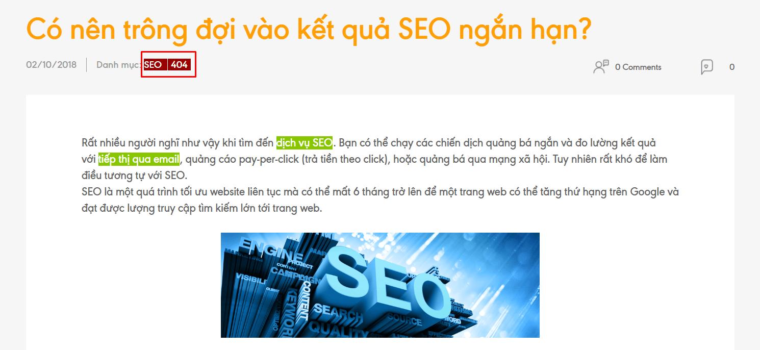"""Loại bỏ các liên kết """"die"""" giúp website bạn """"đẹp"""" hơn trong mắt công cụ tìm kiếm"""