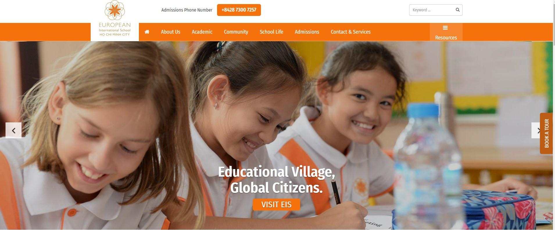 Thông tin tổng quan, khó khăn và kết quả đạt được của dự án European International School HCM