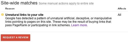 Hướng dẫn gỡ bỏ manual action: Thông báo của Google do đặt link ở footer