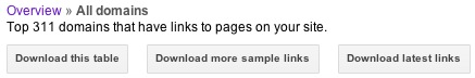 Hướng dẫn gỡ bỏ manual action: Lấy dữ liệu link từ Google Webmaster Tool