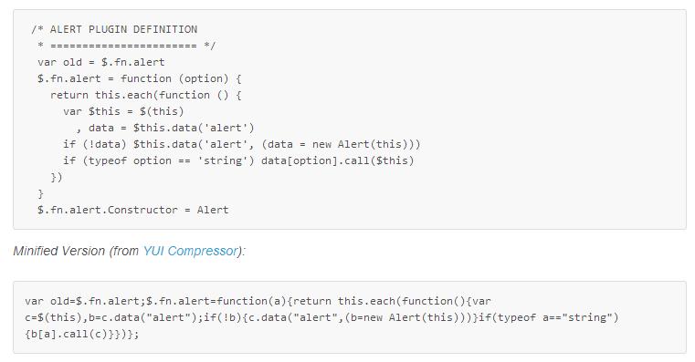Tập tin Javascript nguyên gốc và tập được nén